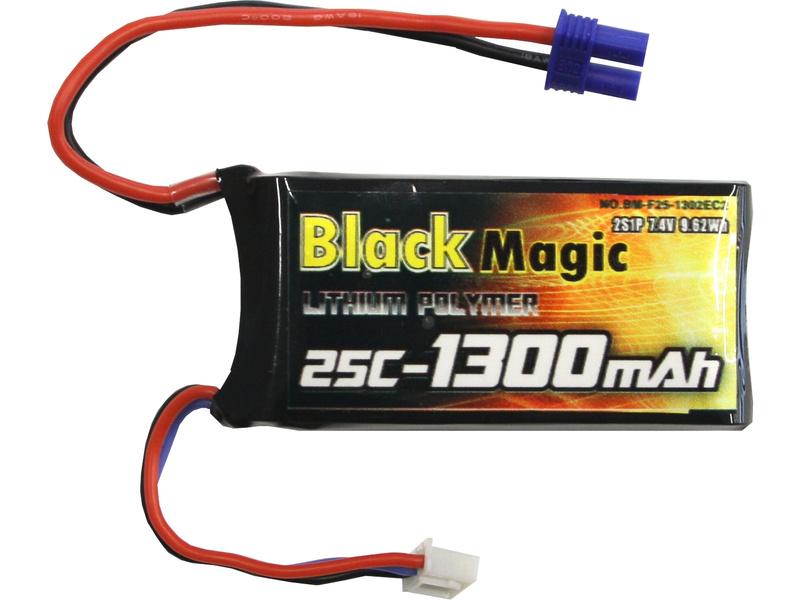 Black Magic LiPol 7.4V 1300mAh 25C EC2