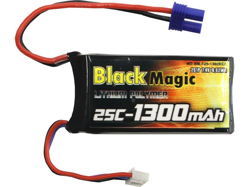Black Magic LiPol 7.4V 1300mAh 25C EC3