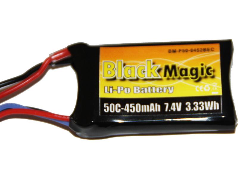 Black Magic LiPol 7.4V 450mAh 50C JST