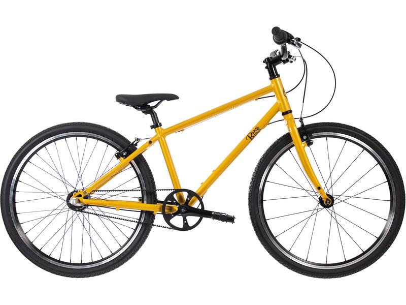 Bungi Bungi - Dětské kolo 24″ 3-rychlostní ultra lehké žluté