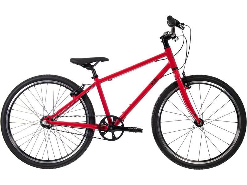 Bungi Bungi - Dětské kolo 24″ 3-rychlostní ultra lehké červené