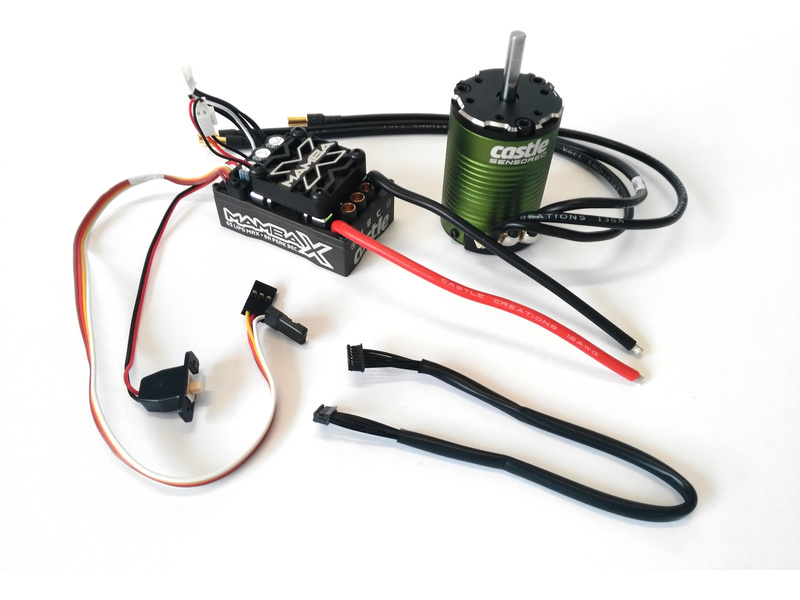 Castle motor 1410 3800ot/V senzored 5mm, reg. Mamba X