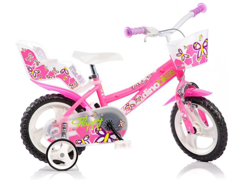 "DINO Bikes - Dětské kolo 12"" růžové"