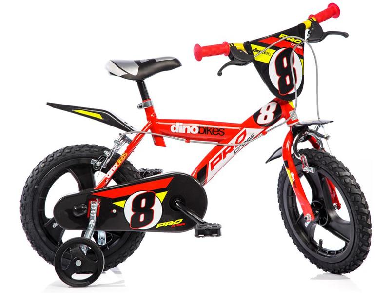 """DINO Bikes - Dětské kolo 14"""" červené"""