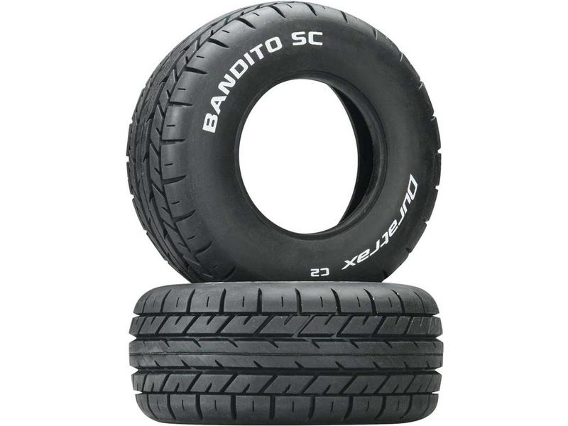 """Duratrax pneu 3.2/2.4"""" Bandito SC C2 (2)"""