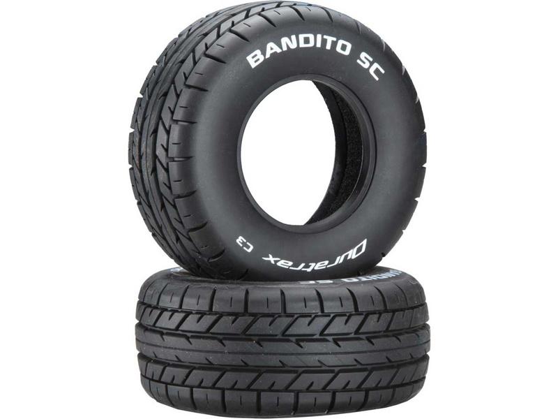 """Duratrax pneu 3.2/2.4"""" Bandito SC C3 (2)"""