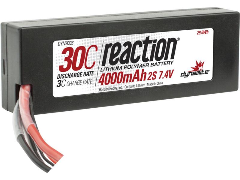 LiPol Reaction Car 7.4V 4000mAh 30C HC EC3