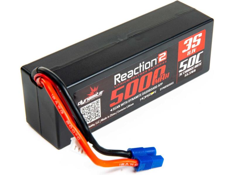 Dynamite LiPo Reaction2 11.1V 5000mAh 50C EC3