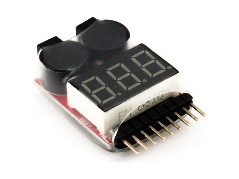 Dynamite tester LiPol baterií s alarmem