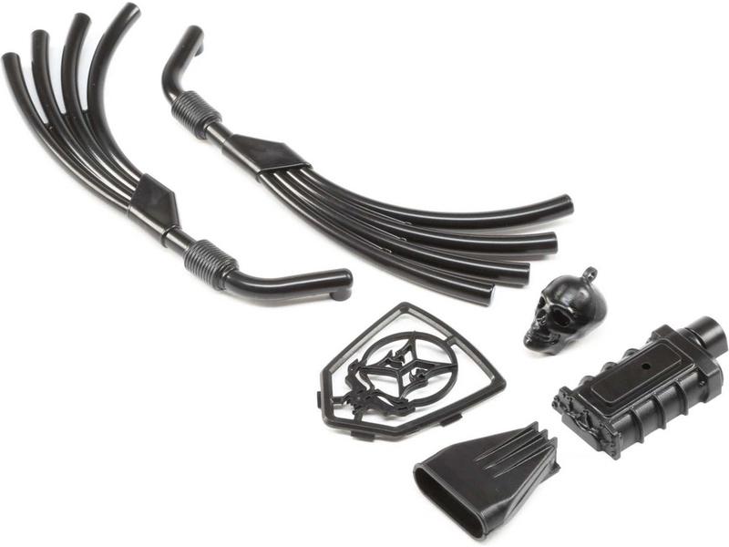 Náhled produktu - ECX Motor, výfuk, chladič černá: Doomsday