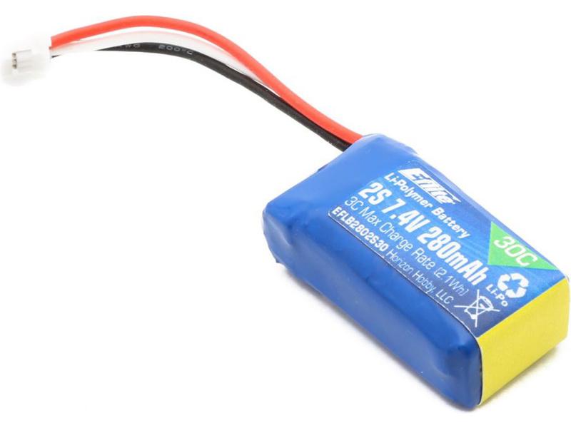 E-flite LiPo 7.4V 280mAh 30C JST-PH