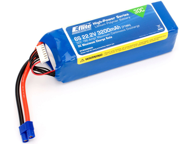 E-flite LiPo 22.2V 3200mAh 30C EC3