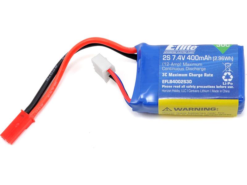 E-flite LiPo 7.4V 400mAh 30C JST