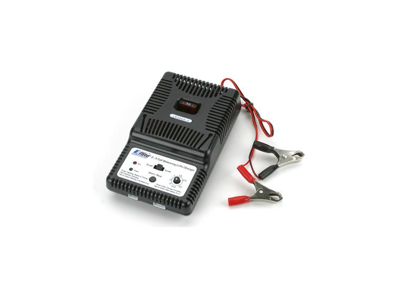 E-flite nabíječ LiPo 2-3 články 0.5-3A s balancérem