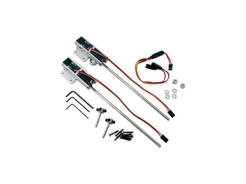 E-flite zatahovací podvozek elektro tř. 60-120 90° 2-bodov