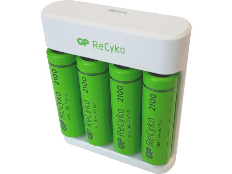 GP USB nabíječ Eco E411 + 4AA GP ReCyko 2100