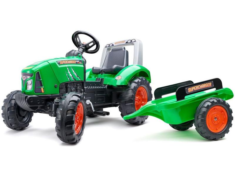 FALK - Šlapací traktor Supercharger zelený