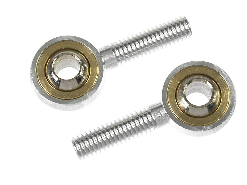 Kulový čep hliníkový vnější závit M4, otvor M4