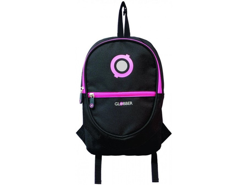 Globber - Junior batoh Black / Neon Pink