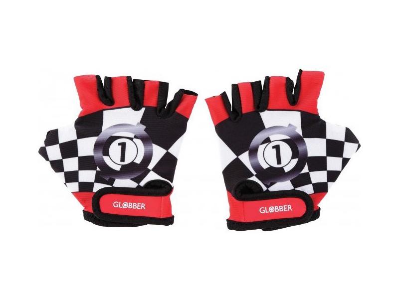 Globber - Dětské ochranné rukavičky XS Racing Red