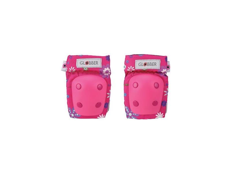 Globber - Chrániče Junior XXS Rocket Flowers Pink