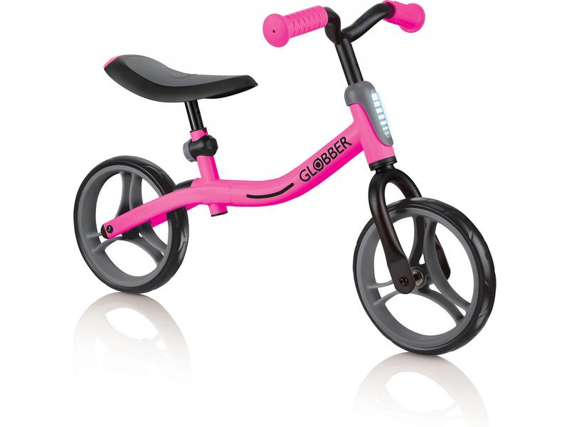 Globber - Dětské odrážedlo Go Bike Black / Neon Pink