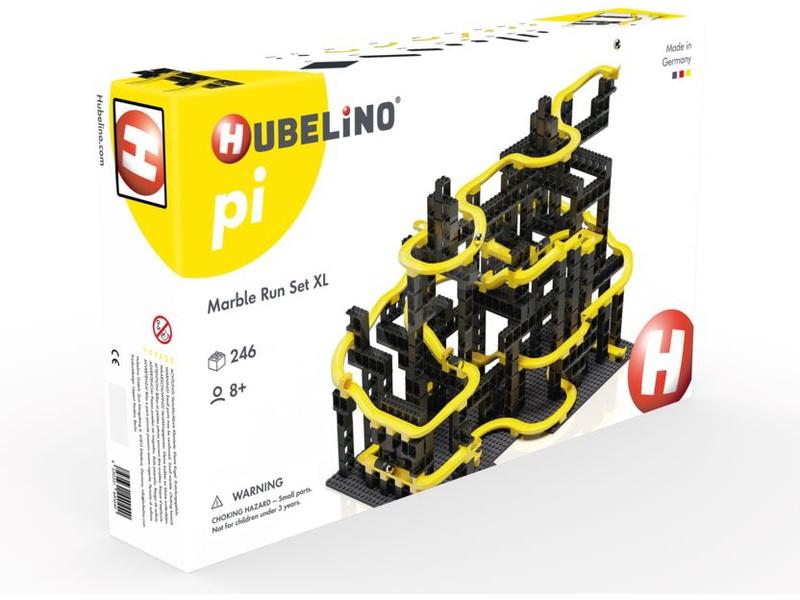HUBELINO Pi Kuličková dráha - set s kostkami XL 246 dílků