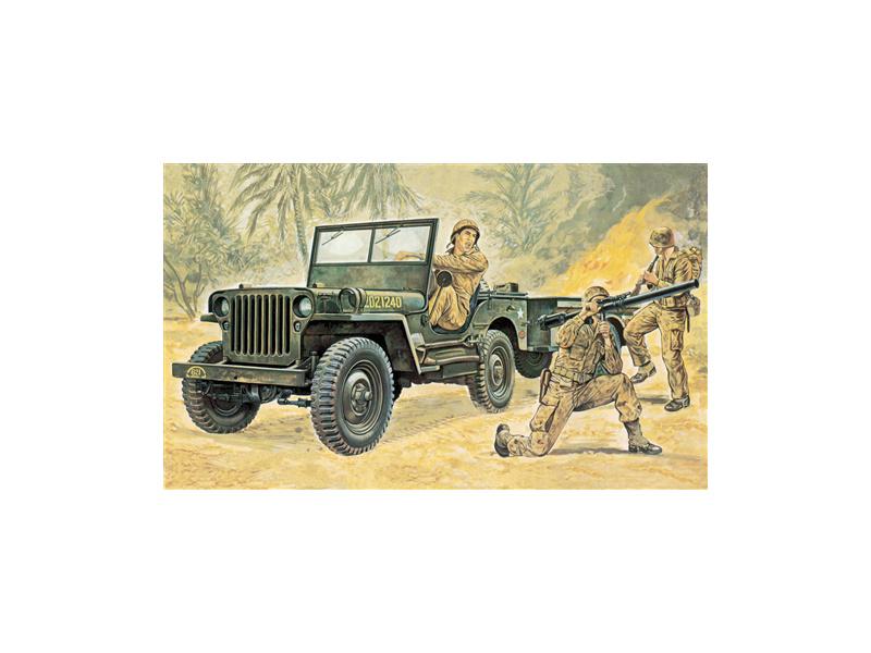 Italeri Willys MB Jeep s navijákem (1:35)