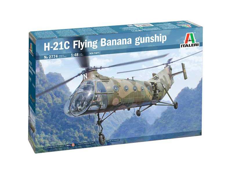 Italeri Piasecki H-21C Flying Banana GunShip (1:48)