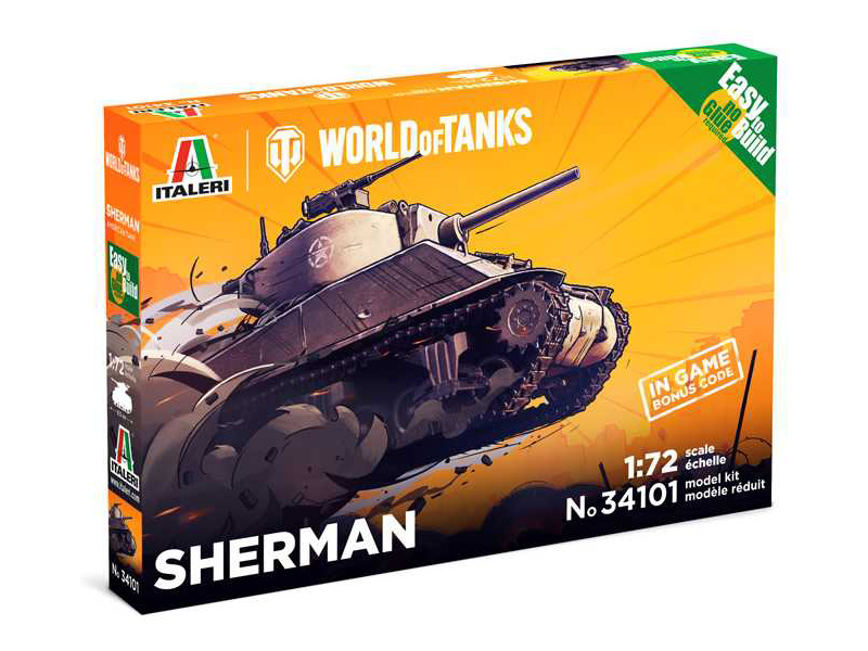 Italeri Easy Kit World of Tanks - Sherman (1:72)