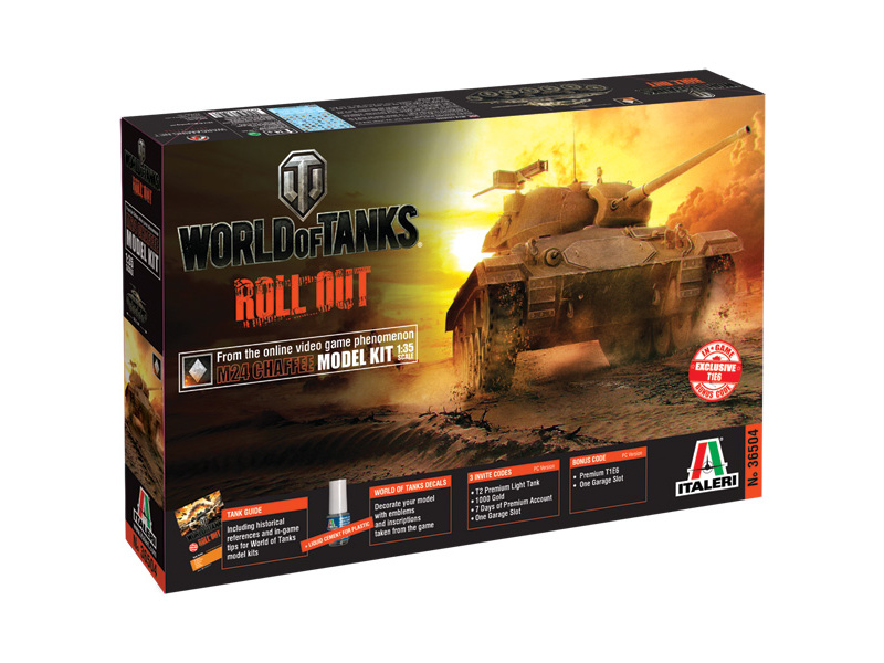 Italeri World of Tanks - M24 CHAFFEE (1:35)