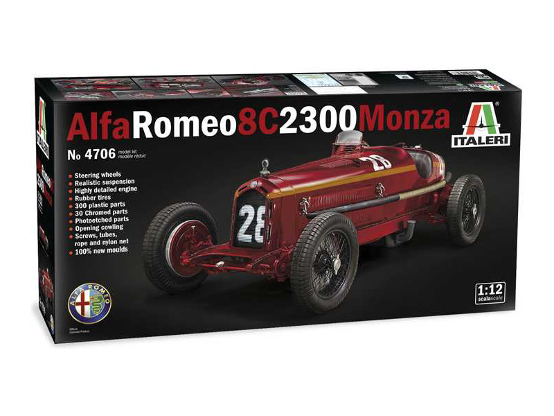 Italeri Alfa Romeo 8C 2300 Monza (1:12)