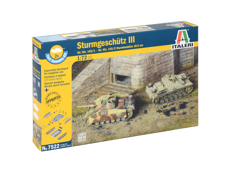 Italeri Easy Kit - STURMGESCHUTZ III (1:72)