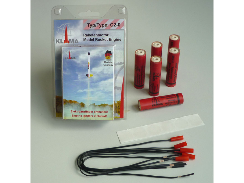 Klima raketový motor C2-0 EL (6ks)