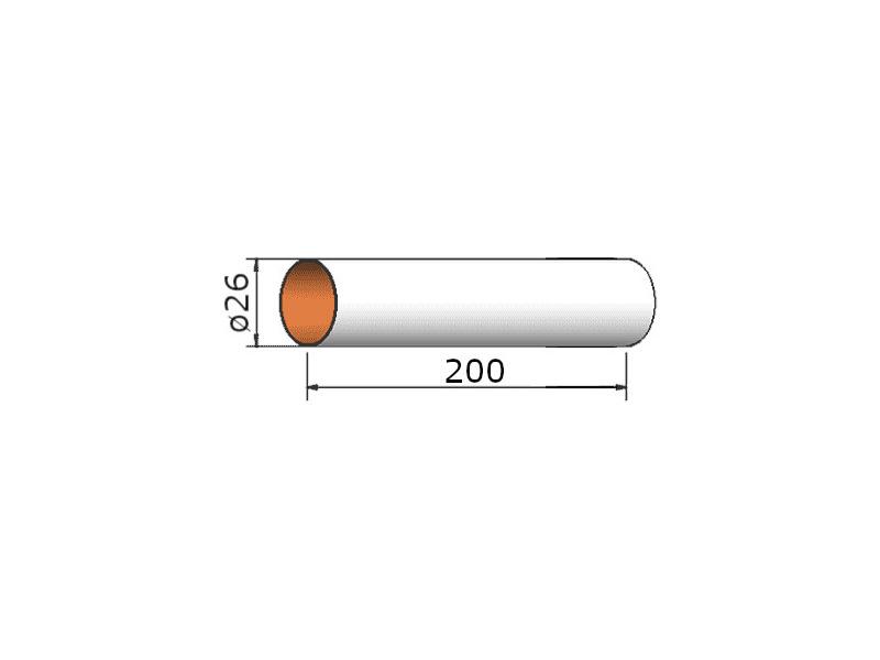 Klima papírová trubka 26x200 mm