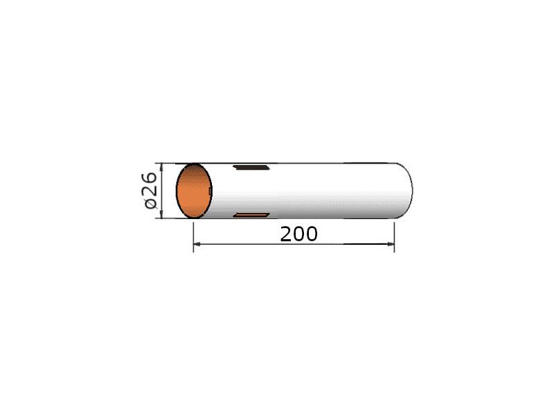 Klima papírová trubka 26x200 mm, 3 drážky