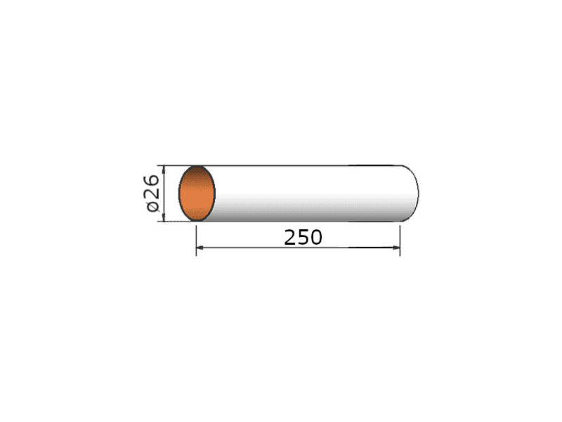 Klima papírová trubka 26x250 mm