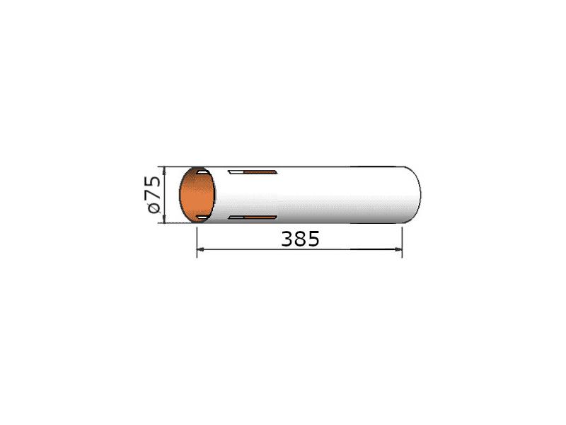 Klima papírová trubka 75x385 mm, 4 drážky