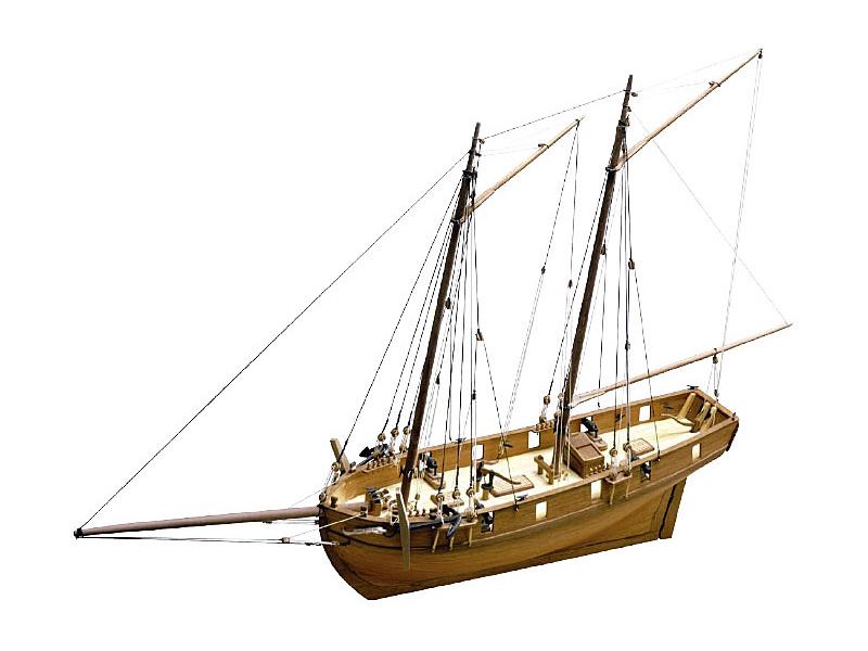 CALDERCRAFT H.M Ballahoo škuner 1803 1:64 kit