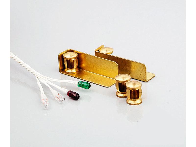 ROMARIN Poziční osvětlení mosaz 6V komplet