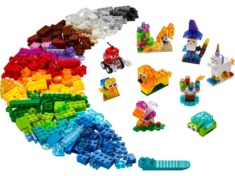 LEGO Classic - Průhledné kreativní kostky