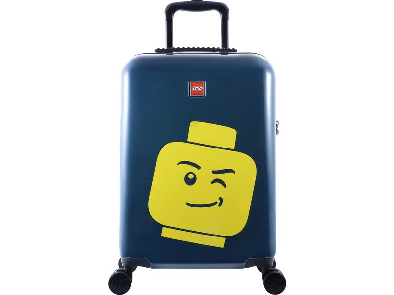 "LEGO Luggage Cestovní kufr ColourBox Minifigure Head 20"" - modrý"