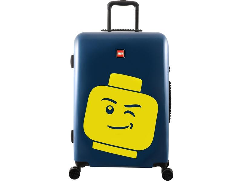 "LEGO Luggage Cestovní kufr ColourBox Minifigure Head 24"" - modrý"