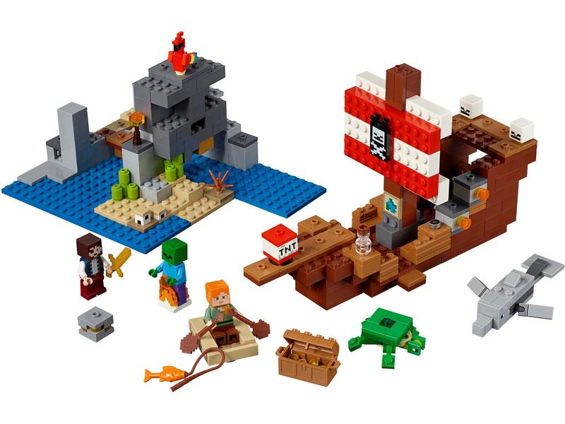 LEGO Minecraft - Dobrodružství pirátské lodi