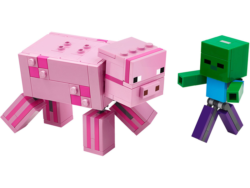 LEGO Minecraft - Prase s malou zombie