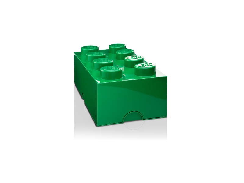 LEGO úložný box 250x500x180mm - tmavě zelený