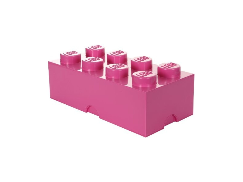 LEGO úložný box 250x500x180mm - růžový
