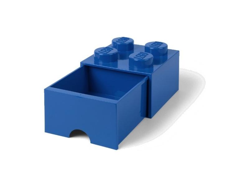 LEGO úložný box s šuplíkem 250x250x180mm - modrý