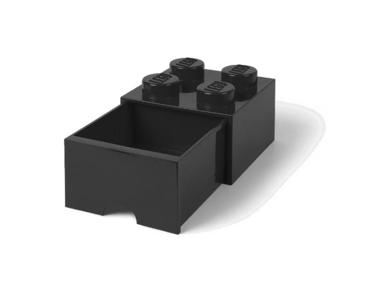 LEGO úložný box s šuplíkem 250x250x180mm - černý