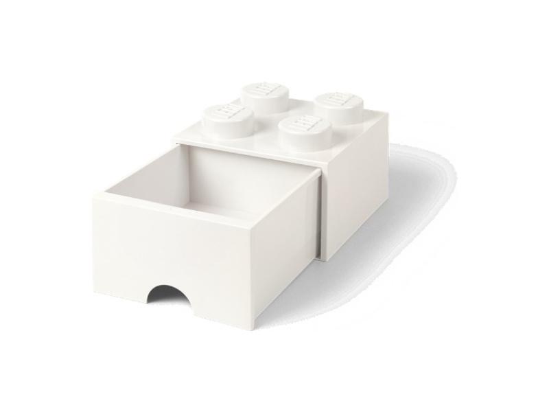 LEGO úložný box s šuplíkem 250x250x180mm - bílý